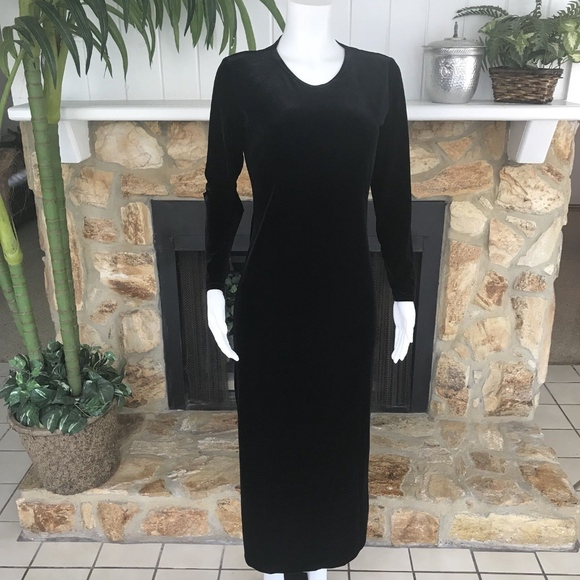 Double D Ranch Dresses Velvet Long Sleeve Stretch Maxi Xs Poshmark